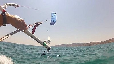 Infinity v2 kite with oxygen v2 board in greece.
