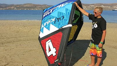 Kids kite junior pro 4-8 and bar